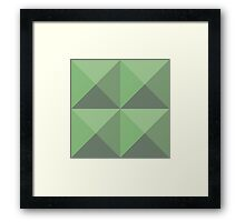 Pyramid Studs - Green Framed Print