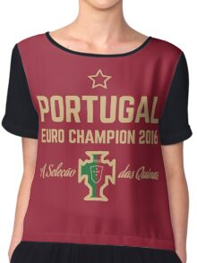 Portugal Euro 2016 Champions T-Shirts etc. ID-1 Chiffon Top