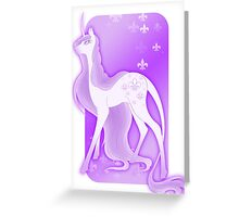 Lavender Unicorn Greeting Card