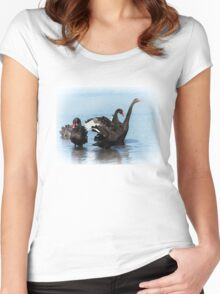 Black Swans Women's Fitted Scoop T-Shirt