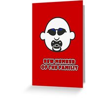 Baby Gangsta Face VRS2 Greeting Card