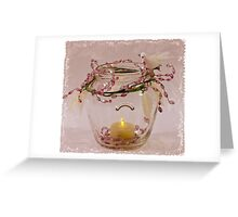 Beaded Candle Jar Greeting Card