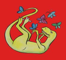 Iss-raaaaah the Velociraptor and the Butterflies Baby Tee