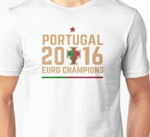 Portugal Euro 2016 Champions T-Shirts etc. ID-2 on White Unisex T-Shirt