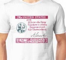 Lincoln Freedom Statement Unisex T-Shirt