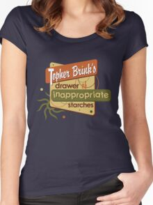 Inappropriate Starches Women's Fitted Scoop T-Shirt