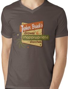 Inappropriate Starches Mens V-Neck T-Shirt