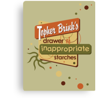 Inappropriate Starches Canvas Print
