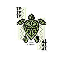 Black & Green Tribal Turtle Tattoo Warrior / Grand Cayman by Susan R. Wacker