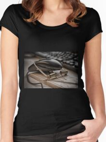 Dumb Mouse Women's Fitted Scoop T-Shirt