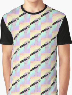 Rainbow/Pastel Mic Graphic T-Shirt