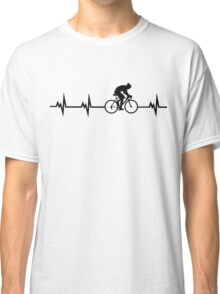 Cycling Heartbeat Black Classic T-Shirt