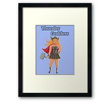 thunder goddess Framed Print