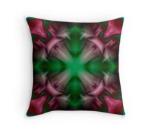 Soft drawing with colorful patterns in tie-dye Throw Pillow
