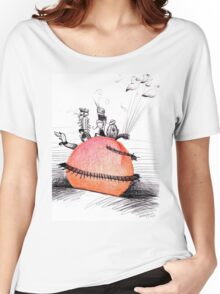 Not So Giant James and The Peach Women's Relaxed Fit T-Shirt