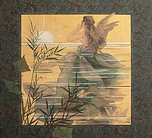 'Winged Nymph at Sunrise' by Alexandre de Riquer (Reproduction) by Roz Abellera Art