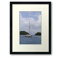 St. John Sailboat Framed Print