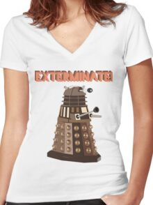 Dalek Exterminate! Women's Fitted V-Neck T-Shirt