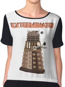 Dalek Exterminate! Chiffon Top