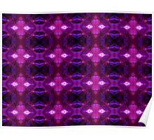 Purple Stamen Patterns Poster