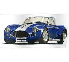 Cobra vintage sport car Poster