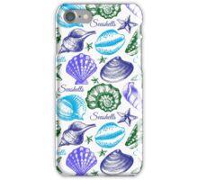 Seashell sketch pattern iPhone Case/Skin