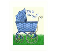 Baby Pram - It's a boy! Art Print