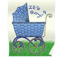 Baby Pram - It's a boy! Poster