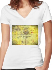 Shakespeare romantic love quote  Women's Fitted V-Neck T-Shirt