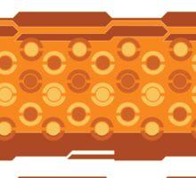 Pokeball- Orange Sticker