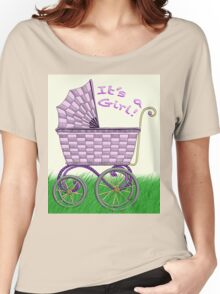 Baby Pram - It's a Girl! Women's Relaxed Fit T-Shirt