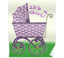 Baby Pram - It's a Girl! Poster