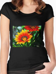 orange flower Women's Fitted Scoop T-Shirt