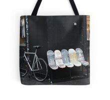 bicycles and skateboards Tote Bag