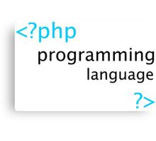 Php Web Programming Stickers Canvas Print
