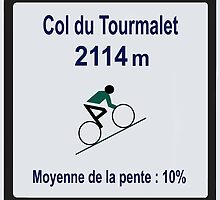 Col du Tourmalet Tour de France Cycling by movieshirtguy