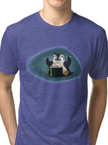 Penguin with sushi cake Tri-blend T-Shirt