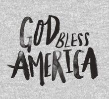 God Bless America BW Kids Tee