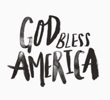 God Bless America BW One Piece - Short Sleeve