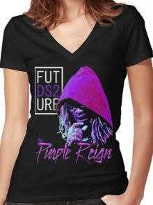 Purple reign Women's Fitted V-Neck T-Shirt