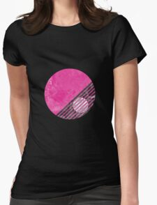 Pink Circle design Womens Fitted T-Shirt