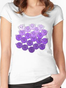 Blackberry Puffers of Pulchritude Women's Fitted Scoop T-Shirt