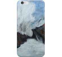 "Oregon Coast, West Coast Waves America Acrylic Painting On 11"" x 14"" Canvas Board iPhone Case/Skin"