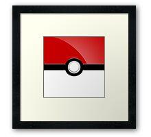 Poke´ Ball - Red Framed Print