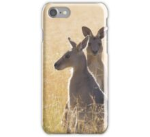 Grey Kangaroos iPhone Case/Skin