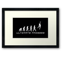 Frisbee evolution Framed Print