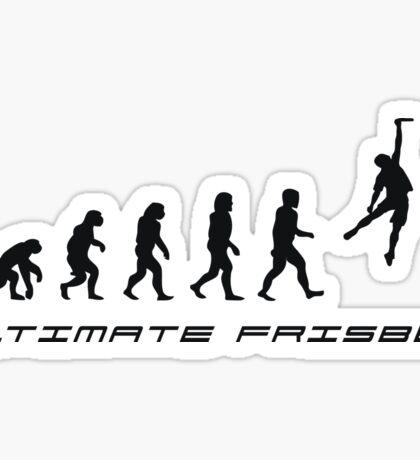 Frisbee evolution Sticker