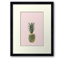 Gold Pineapple with Pink Background Framed Print