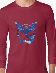 Team Mystic Logo Ice Mountains Long Sleeve T-Shirt
