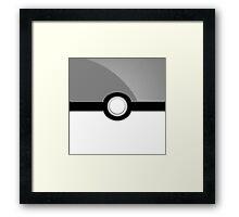 Poke´ Ball - Gray Framed Print